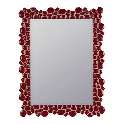 """Cooper Classics - Shelby Light Natural Rustic Wood Rectangular Mirror - Change up your decor with the stunning cimarron mirror.  This striking beveled wall mirror boasts a glossy red finish that will brighted your decor. Frame Dimensions: 29.5""""W X 38""""H; Mirror Dimensions: 22""""W X 30""""H; Finish: Glossy Red; Material: Polyurethane; Beveled: Yes; Shape: Rectangular; Weight: 21 lbs; Included: Brackets, Ready to Hang Vertically or Horizontally"""