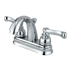 "Kingston Brass - Two Handle 4"" Centerset Lavatory Faucet with Retail Pop-up KB5611FL - Two Handle Deck Mount, 3 Hole Sink Application, 4"" Centerset, 3 hole 4"" center spread installation, Fabricated from solid brass material for durability and reliability, Premium color finish resist tarnishing and corrosion, 1/4 turn On/Off water control mechanism, 1/2"" IPS male threaded shank inlets, Duraseal washerless cartridge, 2.2 GPM (8.3 LPM) Max at 60 PSI, Integrated removable aerator, 3-5/8"" spout reach from faucet body, 5"" overall height.. Manufacturer: Kingston Brass. Model: KB5611FL. UPC: 663370021879. Product Name: Two Handle 4"" Centerset Lavatory Faucet with Retail Pop-up. Collection / Series: VINTAGE. Finish: Polished Chrome. Theme: Classic. Material: Brass. Type: Faucet. Features: Drip-free washerless cartridge system"