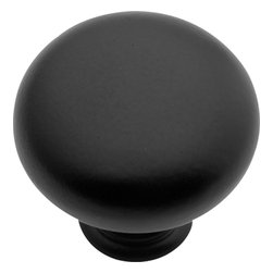 Hickory Hardware - Hickory Hardware 1-1/4 In. Modus Matte Black Cabinet Knob - Often characterized with clean, sleek lines.  Marked with solid colors, predominantly muted neutrals or bold bunches of color.  An emphasis on basic shapes and forms.
