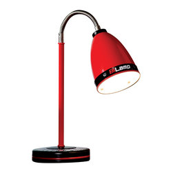 """Cilek - Turbo Desk Lamp - The Desk Lamp is part of the """"Need for Sleep"""" edition of Turbo Beds. Beautifully crafted by Cilek, this red lamp that can go on one our themed desks or night stand can be a great addition to the Turbo Beds themed bedroom. Astonishing details and vibrant color."""