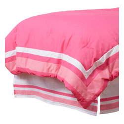 Simplicity Hot Pink Standard Pillow Sham - Standard flanged sham designed to replicate comforter in design.  All in cotton print fabric.