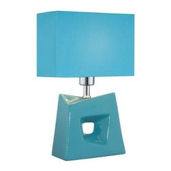 Illumine - Decorative Lamp: 16 in. Blue Fabric Shade Table Lamp CLI-LS-22047L/BLU - Shop for Lighting & Fans at The Home Depot. The Designer Collection supplied by Commercial Lighting Industries is both modern and stylish, all while maintaining the ability to fuse together many different genres. This collection finds itself at home in many of today s popular design schemes. Whether you re looking for lamps, wall-Lighting, pendants, or novelty lamps, the Designer Collection offers a lighting solution that is sure to satisfy any of your lighting needs.