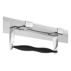 Umbra - Umbra Mountie Paper Towel Holder - The versatile Mountie paper towel holder offers three easy, space-saving mounting options; hangs under your overhead cabinets, overhang or installed over a cabinet door. Can be placed on the inside or the outside of the cabinet door.