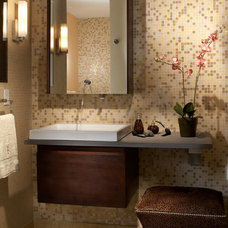 Contemporary Tile by Lily Ann Cabinets