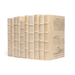 Go Home - Linear Foot of Solid Ivory Books - Warm up your world with the slightly varying tones of antique cream. The Linear Foot of Solid Ivory Books provides a pale, handsome filler for a lonely shelf and a literary backdrop for a console vignette.