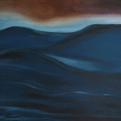 Swell - The tide seems to be turning — original oil paintings are attracting more attention lately. This particular one is of a sensuous seascape painted in tones of cobalt, marine and ice blues, awash with the mystery of the ocean's rolling waves. Are you ready for the next wave in art?