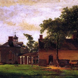 """Eastman Johnson The Old Mount Vernon - 14"""" x 28"""" Premium Archival Print - 14"""" x 28"""" Eastman Johnson The Old Mount Vernon premium archival print reproduced to meet museum quality standards. Our museum quality archival prints are produced using high-precision print technology for a more accurate reproduction printed on high quality, heavyweight matte presentation paper with fade-resistant, archival inks. Our progressive business model allows us to offer works of art to you at the best wholesale pricing, significantly less than art gallery prices, affordable to all. This line of artwork is produced with extra white border space (if you choose to have it framed, for your framer to work with to frame properly or utilize a larger mat and/or frame).  We present a comprehensive collection of exceptional art reproductions byEastman Johnson."""