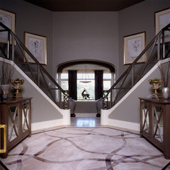 contemporary entry by Kathy Bloodworth Interior Design