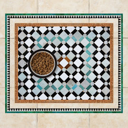 Sniff It Out Designer Pet Mats - Mosaic Pet Food Mat, 26 X 20.5 - Premium-quality clear vinyl mats uniquely designed to resemble beautiful art painted directly onto your floor. The smoothness of the vinyl allows for easy cleanup and lays perfectly flat. Sniff It Out Pet Mats make great gifts and will be a conversation piece that your friends and family won't stop talking about. Made in the USA.