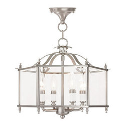 Livex Lighting - Livex Lighting 4398 Livingston 4 Light Semi-Flush Ceiling Fixture - Features:
