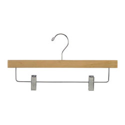 Proman Products - Pant Hanger With Clips In Natural Finish - Pant Hanger with Clips in Natural Finish. 100 per case