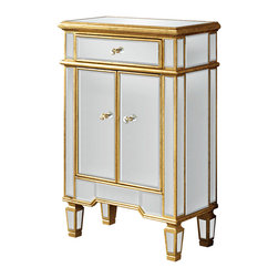 Elegant Lighting - Elegant Lighting MF1-1004GC Florentine Other Furniture in Gold and Clear Mirror - This Cabinet from the Florentine collection by Elegant Lighting will enhance your home with a perfect mix of form and function. The features include a Gold and Clear Mirror finish applied by experts. This item qualifies for free shipping!