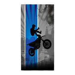 Extremely Stoked - Eco Friendly Motocross Bath Towel - Our Bath/Beach Towels are made of a super soft poly fiber fabric with 2mm pile.