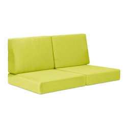 Zuo Modern - Sofa Cushion in Green - UV and water resistant. Warranty: One year. Made from fabric. No assembly required. 56.7 in. L x 27.6 in. W x 30.7 in. H (13.7 lbs.)