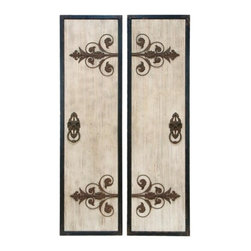 """BZBZ34869 - Wooden and Metal Wall Plaque with Assorted Classic Style - Wooden and Metal Wall Plaque with Assorted Classic Style. To add exquisiteness to the decor of the room, the Assorted wooden and metal wall plaque has features that blend style with classic elements that enhances the overall appearance of the accessory. It is available in 2 size variants - 71"""" H x 20"""" W x 1 1/2"""" D, 71"""" H x 20"""" W x 1 1/2"""" D."""