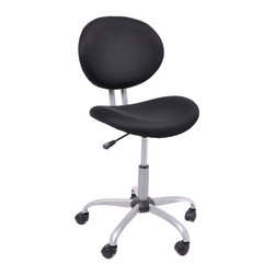 Simple Spin Computer Chairs  Tilting Function Adjustable Swivel Office Chair, Bl - Product Description: