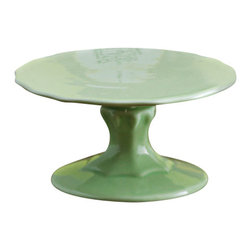 "Rosanna - PetiteTreats Scalloped Green Cupcake Stand - Add some fun flavor by displaying your petite treats on our porcelain mini cupcake stands!    Mix & Match...add some color By combining the pink, green, yellow, and white mini cake stands!      * Dimensions: 4""w x 2""h   * Care: Hand wash recommended   * Gift Boxed"