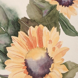 Sunshine, Original Watercolor, Giclee Print - There is so much to love about watercolor.  All of the shades and no color at all, with endless possibilities, even with only one image, we could explore it in infinite ways. Choice of original watercolor or giclee print.