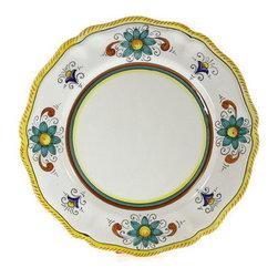 Artistica - Hand Made in Italy - Raffaellesco Lite: Dinner Plate (Simple Decor - Sim) - Deruta Lite Dinnerware.