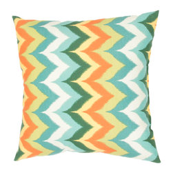 """Jaipur Rugs - Blue/Multi color polyester glamis poly fill pillow 18""""x18"""" - These fashion forward pillows, in trellis, stripes and whimsical patterns are for both indoor and outdoor use."""