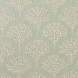 Schumacher - Hawthorn Embroidery Fabric - There is no common thread to be found here: This beautiful fabric is crafted of crisp linen and cotton, and embroidered with a stunningly delicate scallop design. You'll find it can easily pick up the thread of your contemporary or classic design scheme, embellishing it with subtle beauty.