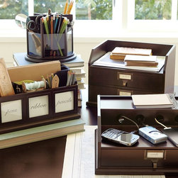Bedford Desk Accessories - This system will help the desk stay organized. I like the color and the fact that each piece has so many uses.