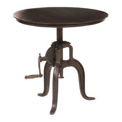 Rockwell Crank Adjustable Side Table