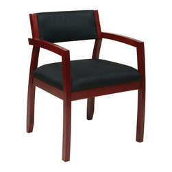 Office Star - Office Star Napa Cherry Guest Chair With Upholstered Back in Black Fabric - Napa Cherry Guest Chair With Upholstered Back (1-Pack) What's included: Guest Chair (1).