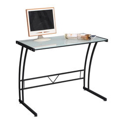Lumisource - Sigma Computer Workstation (Black) - Color: BlackTempered Glass top. Sturdy metal frame. Assembly required. 35 in. W x 20 in. D x 29.50 in. H (26 lbs.)