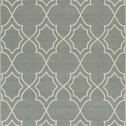 "Surya - Surya Alfresco ALF-9589 (Cream) 7'6"" x 10'9"" Rug - The beautiful rugs in the Alfresco Collection can be used on the porch, deck, and patio or hose them down and use them in your kitchen, sunroom, or bathroom! This versatile collection offers rugs that are stain, humidity, and UV ray resistant. Complement your home dEcor with the beauty of Alfresco rugs that flow smoothly with your lifestyle. -100% Polypropylene -Outdoor -Made in Egypt"