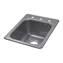 "Lyons Industries - Kitchen Prep Sink, 16""L x 20""W Single Bowl 8"" Deep Acrylic, Three Faucet Holes - Lyons Industries Single Bowl Metallic Silver acrylic kitchen Prep sink 8"" deep with three faucet holes on 8"" centers. This standard self rimming 16""X22"" sink is easy to install as a remodel or new construction project. This sturdy sink has durable easy to clean high gloss acrylic construction with a fiberglass reinforced insulation backer. This sink is quiet and provides a superior heat retention than other sink materials meaning your water stays warm longer. Lyons sinks come with a simple mounting tab and clip system to firmly fasten the sink to the countertop and reinforced drain areas for safely supporting a garbage disposal. Detailed installation instructions include the cut-out specifications. Lyons sinks are proudly made in America by experienced artisans supporting our economy."