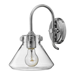 Hinkley Lighting - 3176CM Congress Wall Sconce, Chrome, Hand Blown Clear Glass - Traditional Wall Sconce in Chrome with Hand Blown Clear glass from the Congress Collection by Hinkley Lighting.