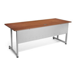 """OFM - Modular Desk/Worktable - This 30""""x72"""" modular training/work table has a contemporary design that is perfect for any training room, office, or school environment! The powder-coated 16 gauge steel frame is both stray and sturdy. Built-in leveling guides are included. Features: -Worktable.-Scratch-resistant thermofused melamine surface.-Adjustable leveling glides.-Scratch-resistant powder coated paint finish on durable steel base and frame.-Perfect for general office use and commercial use.-Distressed: No.Dimensions: -Tabletop Thickness: 0.75"""".-Tabletop Dimensions: 30"""" x 72"""".-Overall Dimensions: 29.5"""" H x 72"""" W x 30"""" D.Assembly: -No tools required for assembly.-Assembly required."""