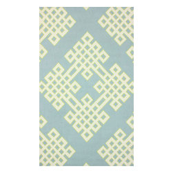 nuLOOM - Contemporary 5' x 8' Baby Blue Hand Hooked Area Rug HK77 - Made from the finest materials in the world and with the uttermost care, our rugs are a great addition to your home.