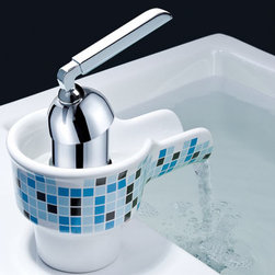 Bathroom faucet - ●Single lever porcelain  bathroom basin faucet 0240E
