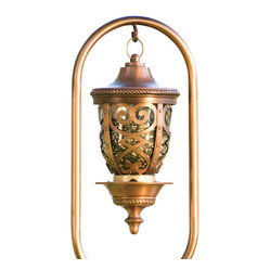 H Potter - Seville Bird Feeder - This impressive bird feeder looks like a beautiful chalice you'd see in a European cathedral. From the elaborate pattern on the sides, to the regal base and decorative trim, it's an inviting station for birds, a visual treat for you.