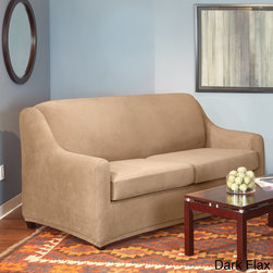 Sure Fit Stretch Pearson Full 3-piece Sleeper Sofa Slipcover -