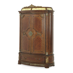 AICO Furniture - Villa Valencia Armoire - Villa Valencia by Michael Amini. Shown in Classic ...
