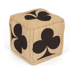 Vintage Chic Home - Club Pouf - Procure this comfy and nifty Club Pouf that will form a stunning addition to your home . It will look splendid placed in your living room. It comes with a flower tree graphic bleached on all four sides.