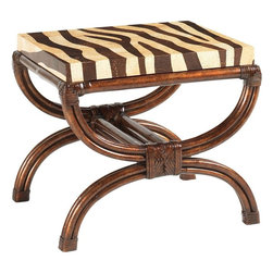Lexington - Tommy Bahama Home Royal Kahala Striped Delight Accent Table - The whimsical design is made with the interior and exterior of real coco shell which is dramatically different in color. The natural contrast offers a unique opportunity to create a custom stripe with bent rattan and leather binding completing the look.