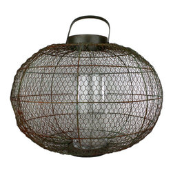 Homart - Industrial Globe Party Lantern - Inspired by California living and architecture our Urban Tree House Collection develops many one-of-a-kind decorative accessories, recycling products destined for landfills and transforming them into amazingly unique home and garden accents that comfortably mingle with any decor. Our pieces are heirloom worthy but not overly precious and will bring a level of authenticity to your space, indoors or out!