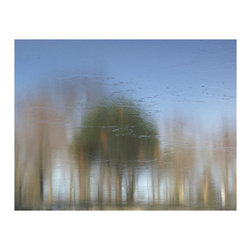 "Avalon Nature Photography - Barth Pond Series: A PINE: Photography on Canvas, 30"" X 24"" X 1.5 - Traditional Fine Art Impressionism Thin Ice Series: Barth Pond: A Pine. 2 of 3 in Series."