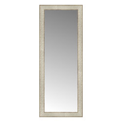 """Posters 2 Prints, LLC - 14"""" x 35"""" Libretto Antique Silver Custom Framed Mirror - 14"""" x 35"""" Custom Framed Mirror made by Posters 2 Prints. Standard glass with unrivaled selection of crafted mirror frames.  Protected with category II safety backing to keep glass fragments together should the mirror be accidentally broken.  Safe arrival guaranteed.  Made in the United States of America"""
