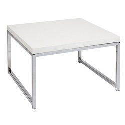 "Avenue Six - Wall Street 28"" Accent / Corner Table in White - Avenue Six Wall Street 28"" Accent / Corner Table in White"