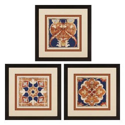 Paragon - Woodblocks I PK/3 - Framed Art - Each product is custom made upon order so there might be small variations from the picture displayed. No two pieces are exactly alike.