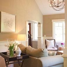 Craftsman Living Room by Sheila Mayden Interiors