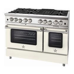 "BlueStar Platinum Series: 48"" Range - 48"" BlueStar Platinum Range in Cream (RAL 9001)"