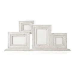 Z Gallerie - Harrington Frame - Our clever Harrington Frame assembles the family gathering for you. Four individual frames are united as one and anchored to a wide base in the wooden frame, finished with the attractive look of distressed whitewash.
