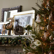 Traditional Holiday Decorations by Adams Interior Design