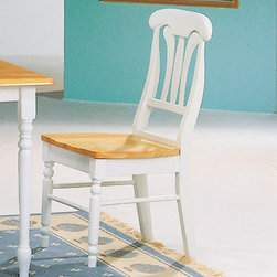 Coaster - Dining Chair in Natural/ White, Set of 2 - These stylish Damen Lyre Back Dining Side Chairs will help you create a sophisticated style in your casual dining room. The simple yet elegant chairs feature an elegant lyre back shape, with elegant curves. A contoured wooden seat and pretty turned legs complete this simple but stylish chair. Pair with a table from this collection for a charming dining room ensemble.